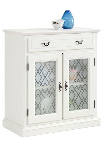 Premium collection by Home affaire Kommode »Kodia«, mit schönem Glasmuster auf den Türfronten, 2-türig, 89 cm breit kaufen