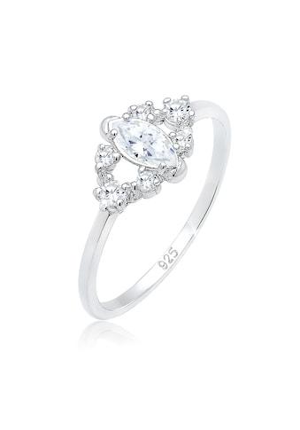 Elli Fingerring »Valentin Floral Zirkonia Kristalle 925er Silber« kaufen