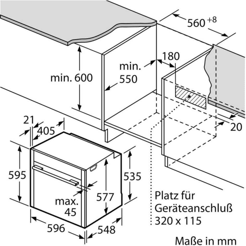 NEFF Dampfbackofen »B45FS24N0«, N 90, B45FS24N0, mit Vollauszug, easyClean, mit Slide&Hide®