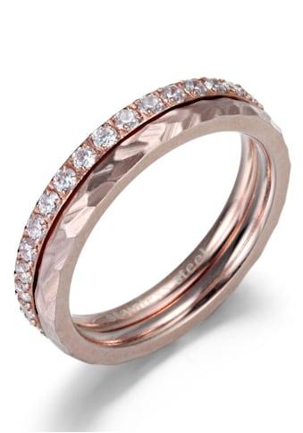 Firetti Ring - Set »4,0 mm, glänzend, matt, schlicht und zeitlos« (Set, 2 tlg.) kaufen