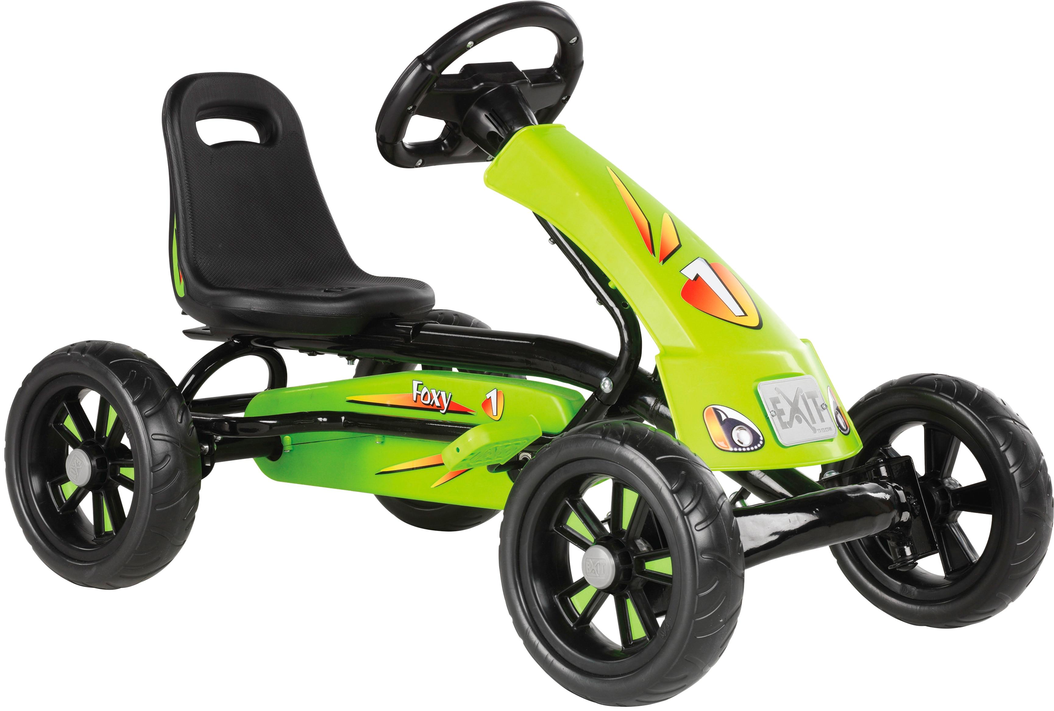EXIT Go-Kart Foxy Pedal, für Kinder von 2-5 Jahren grün Kettcar Tretfahrzeug Kinderfahrzeuge