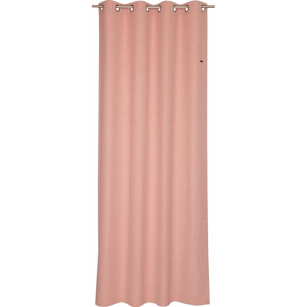 Esprit Vorhang »Harp«, HxB: 250x140, Blickdicht, mit Lederlabel, (BxH) 140 x 250 cm