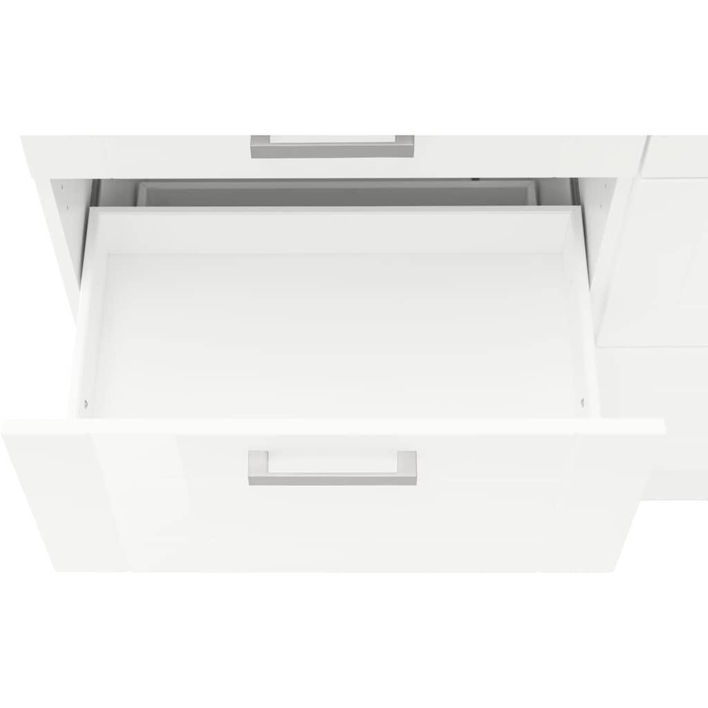 HELD MÖBEL Unterschrank »Tinnum«, 120 cm breit, Metallgriffe, MDF Fronten, mit 2 Schubkästen und 4 Auszügen, für viel Stauraum auch als Sideboard nutzbar