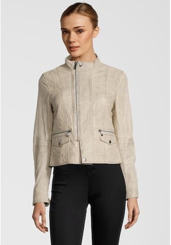 Buffalo Lederjacke »BE Graceful«, mit versetztem Zipper kaufen