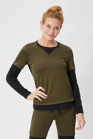 super.natural Damen W Mountain Cascade Fleece Printed Merino Pullover