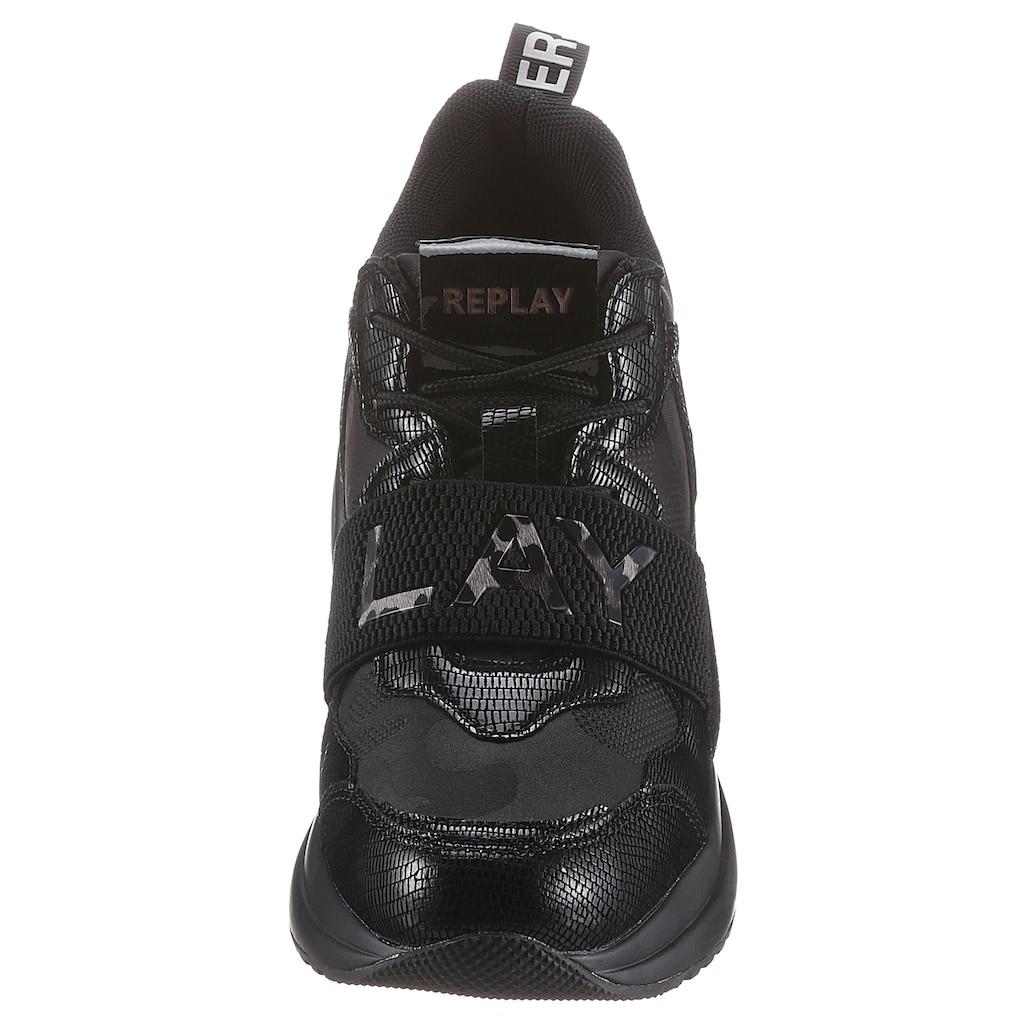 Replay Sneaker, mit modischem Schmuckelement