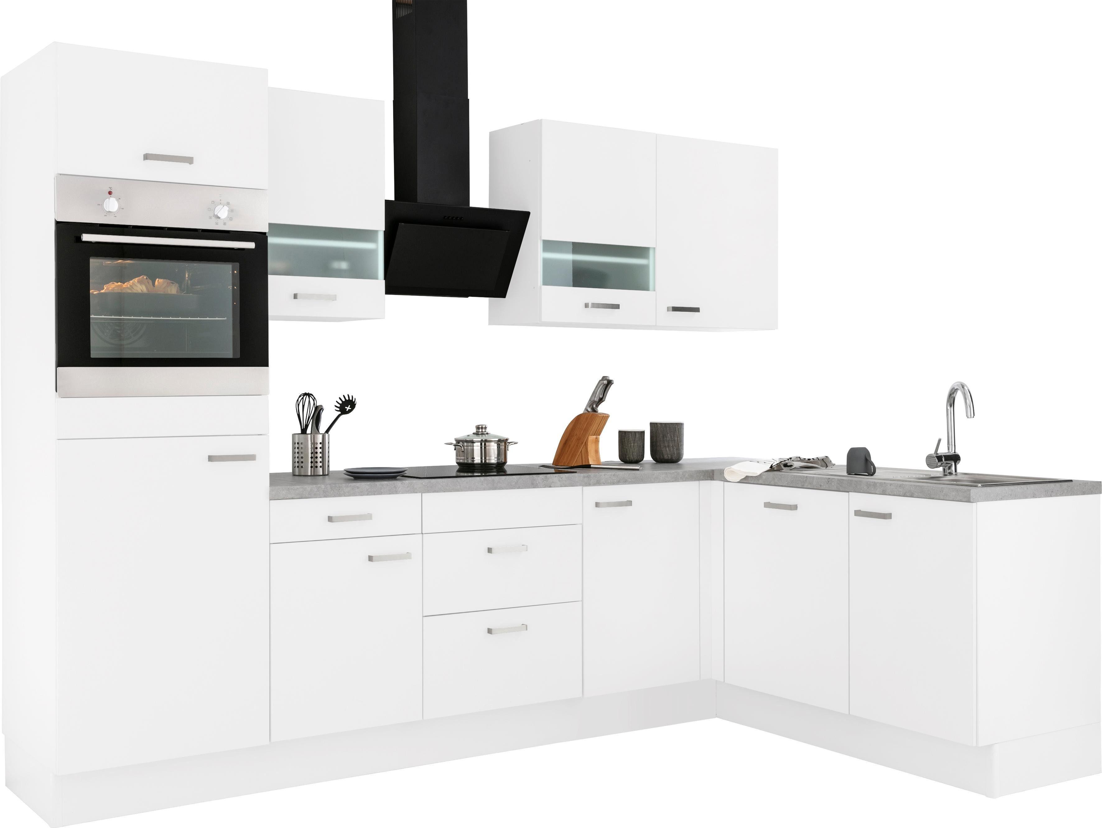 OPTIFIT Winkelküche Parma ohne E-Geräte Stellbreite 285 x 175 cm