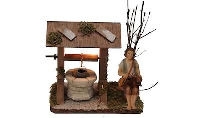 Alfred Kolbe Krippen-Zubehör »Brunnen mit Beleuchtung und Figur Hirte sitzend« kaufen
