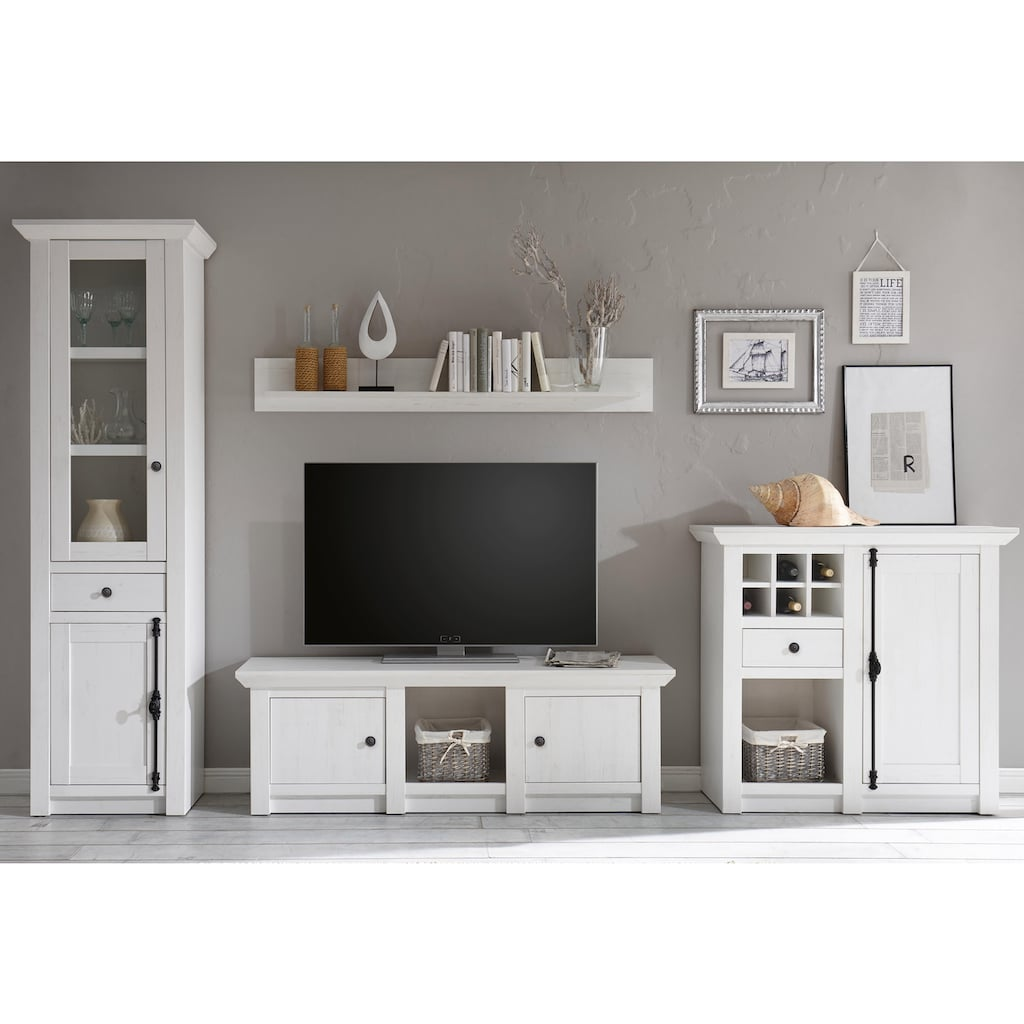 Home affaire Wohnwand »California«, (Set, 4 St.), bestehend aus Standregal, Lowboard, Wandregal, Highboard