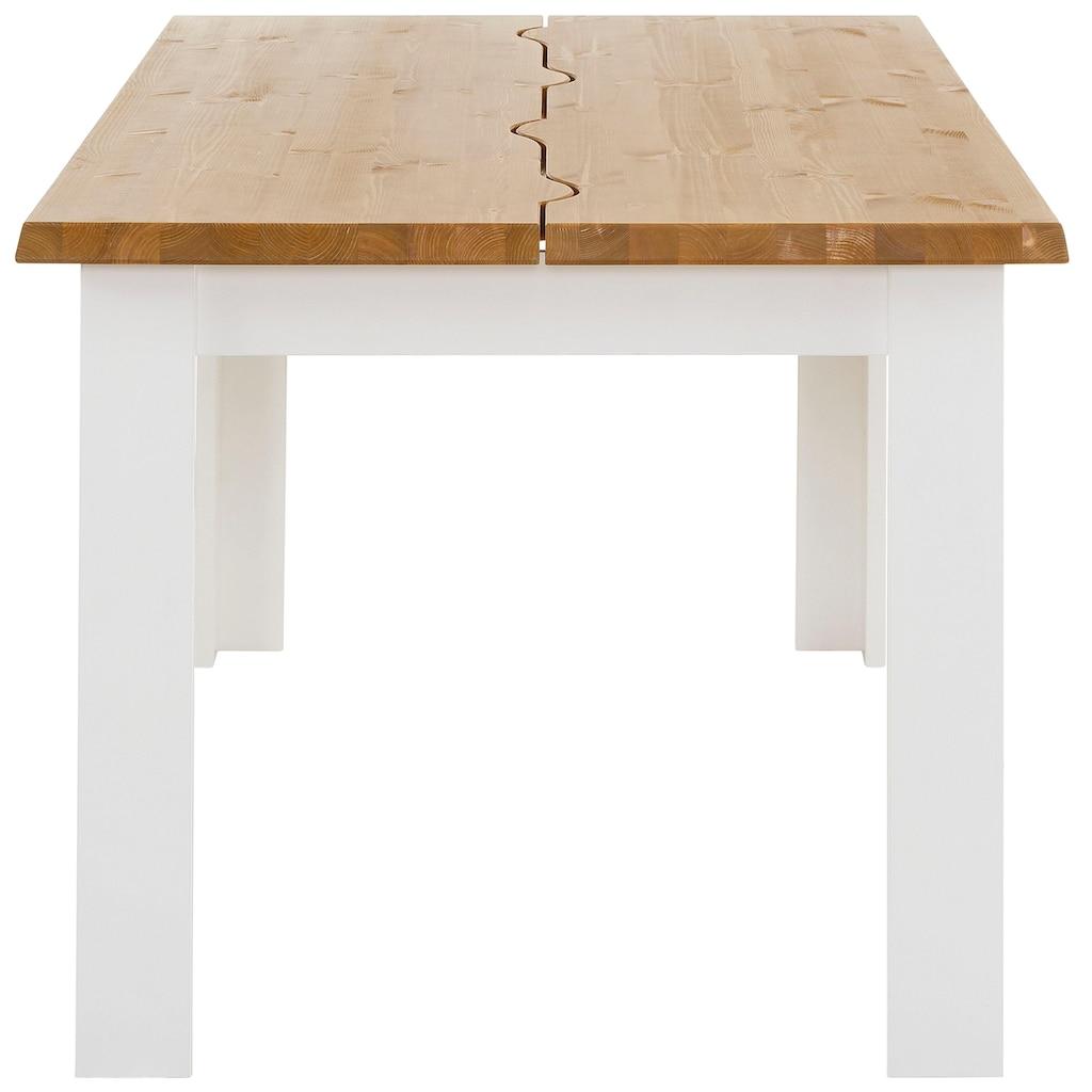 Home affaire Esstisch »Ixo«, Mit 2 dekorativ geschwungenen Oberplatten.. Hochwertige Verarbeitung, zeitloses Design.