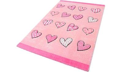 Kinderteppich, »Momo Herz«, Festival, rechteckig, Höhe 13 mm, maschinell gewebt kaufen