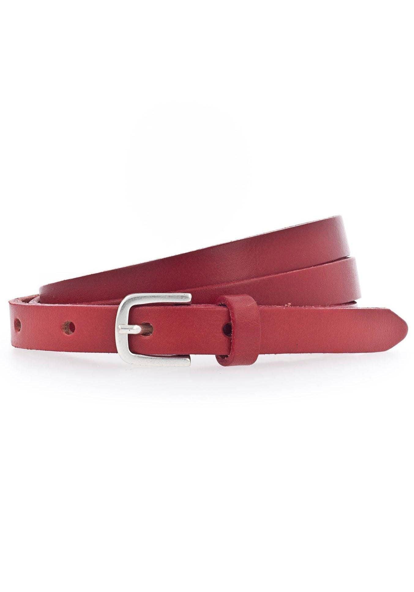 Vanzetti Ledergürtel, Überlänge, lässige Spitze zum Knoten rot Damen Ledergürtel Gürtel Accessoires