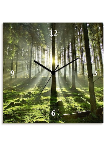 Artland Wanduhr »Wald im Gegenlicht«, lautlos, ohne Tickgeräusche, nicht tickend,... kaufen