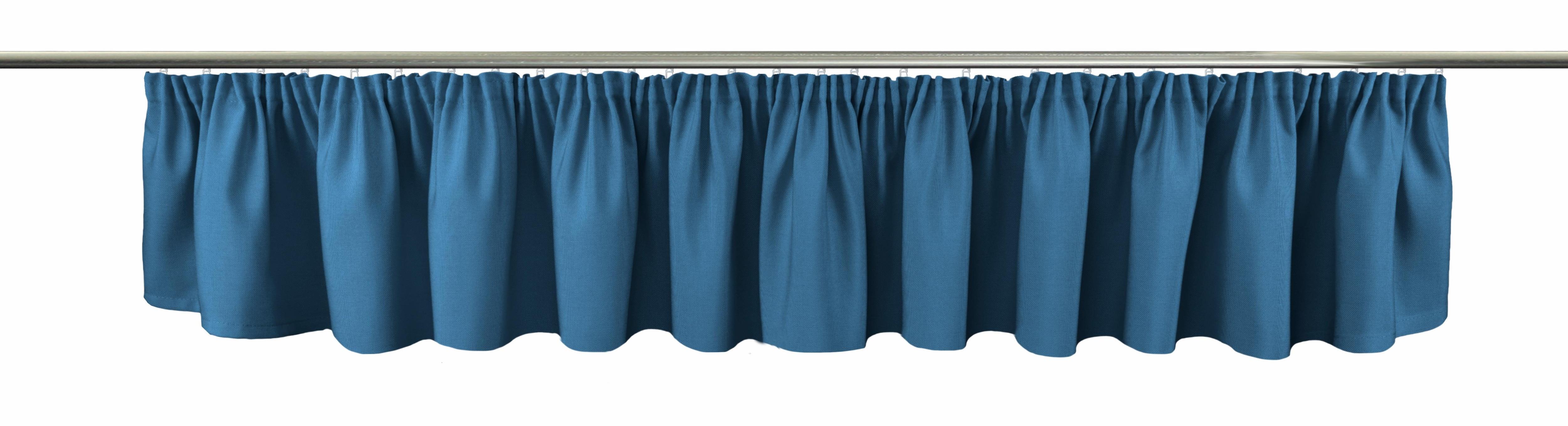 Querbehang Gerti VHG Kräuselband 1 Stück | Heimtextilien > Gardinen und Vorhänge > Scheibengardinen | Blau | Vhg