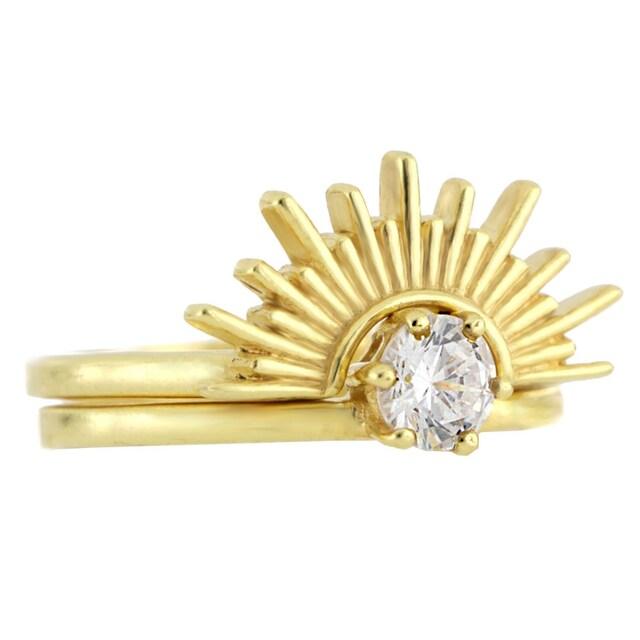 JULES & GENTS Fingerring »#sunset Gold«