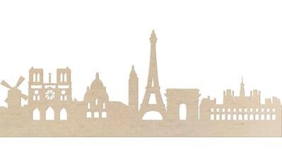 Wanddekoobjekt »Pappel Furnier  -  Skyline Paris« kaufen