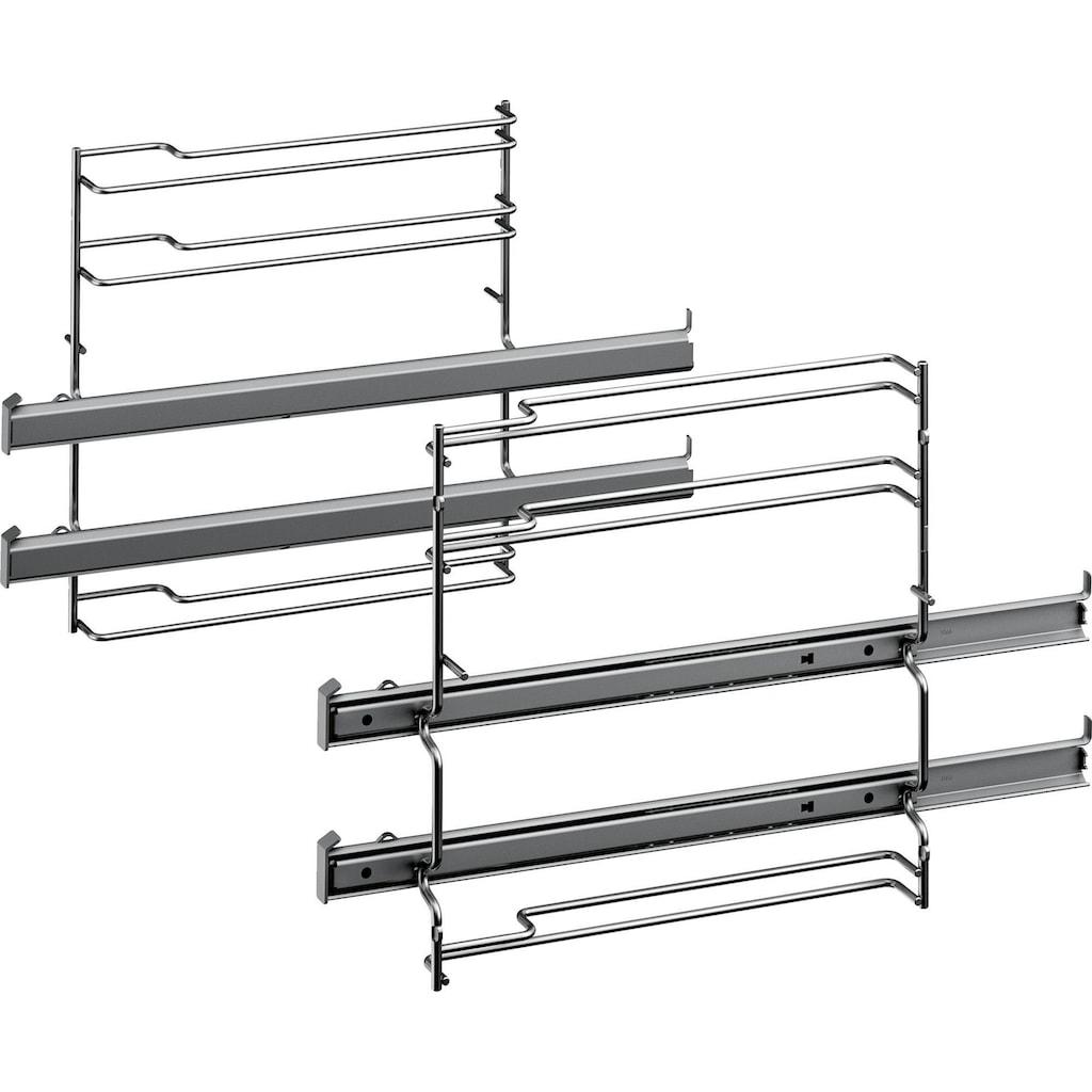 SIEMENS Flex-Induktions-Herd-Set »PQ521DA0ZM«, iQ500, HE578ABS1, mit 2-fach-Teleskopauszug, Pyrolyse-Selbstreinigung