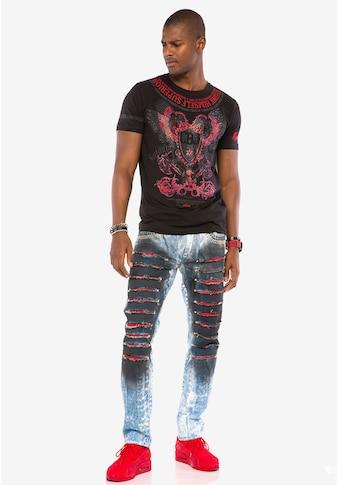 Cipo & Baxx Slim-fit-Jeans, in lässigem Used-Look kaufen