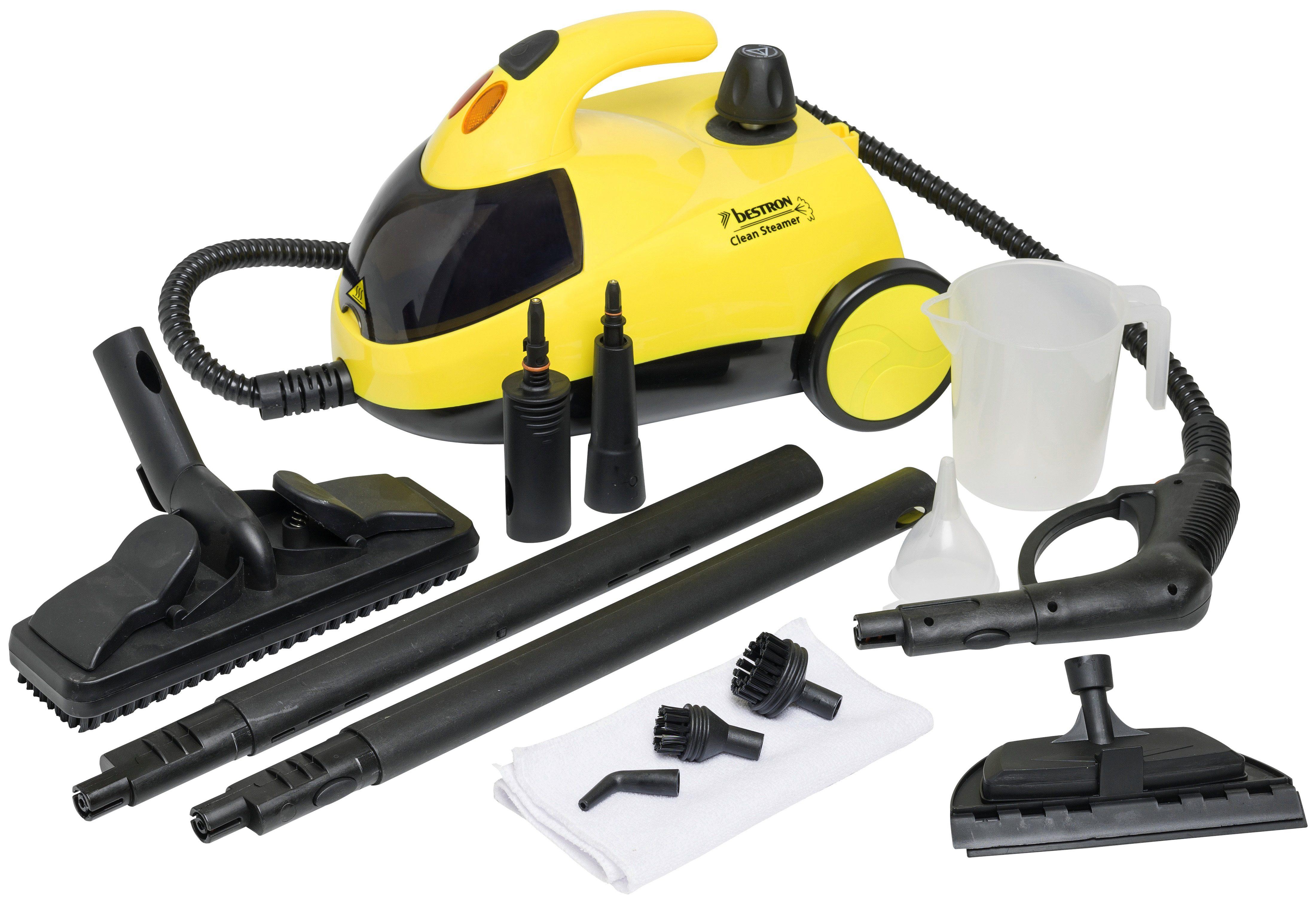 bestron Dampfreiniger DWJ5280 1500 Watt beutellos | Flur & Diele > Haushaltsgeräte > Dampfreiniger | Gelb | Bestron