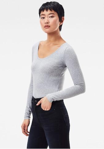 G-Star RAW Langarmshirt »Base Top r l/s«, aus weichen, atmungsaktiven Jersey im... kaufen