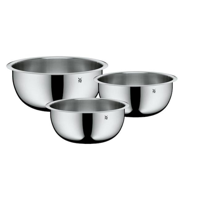 WMF Küchenschüssel 3tlg, Cromargan Edelstahl, 1,0l-3,5l, stapelbar »Function Bowls«