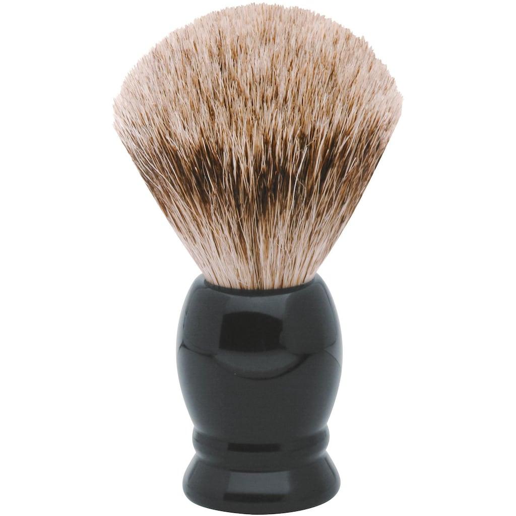 ERBE Rasierpinsel »M«, Dachs-Zupfhaar, schwarzer Kunststoff-Griff