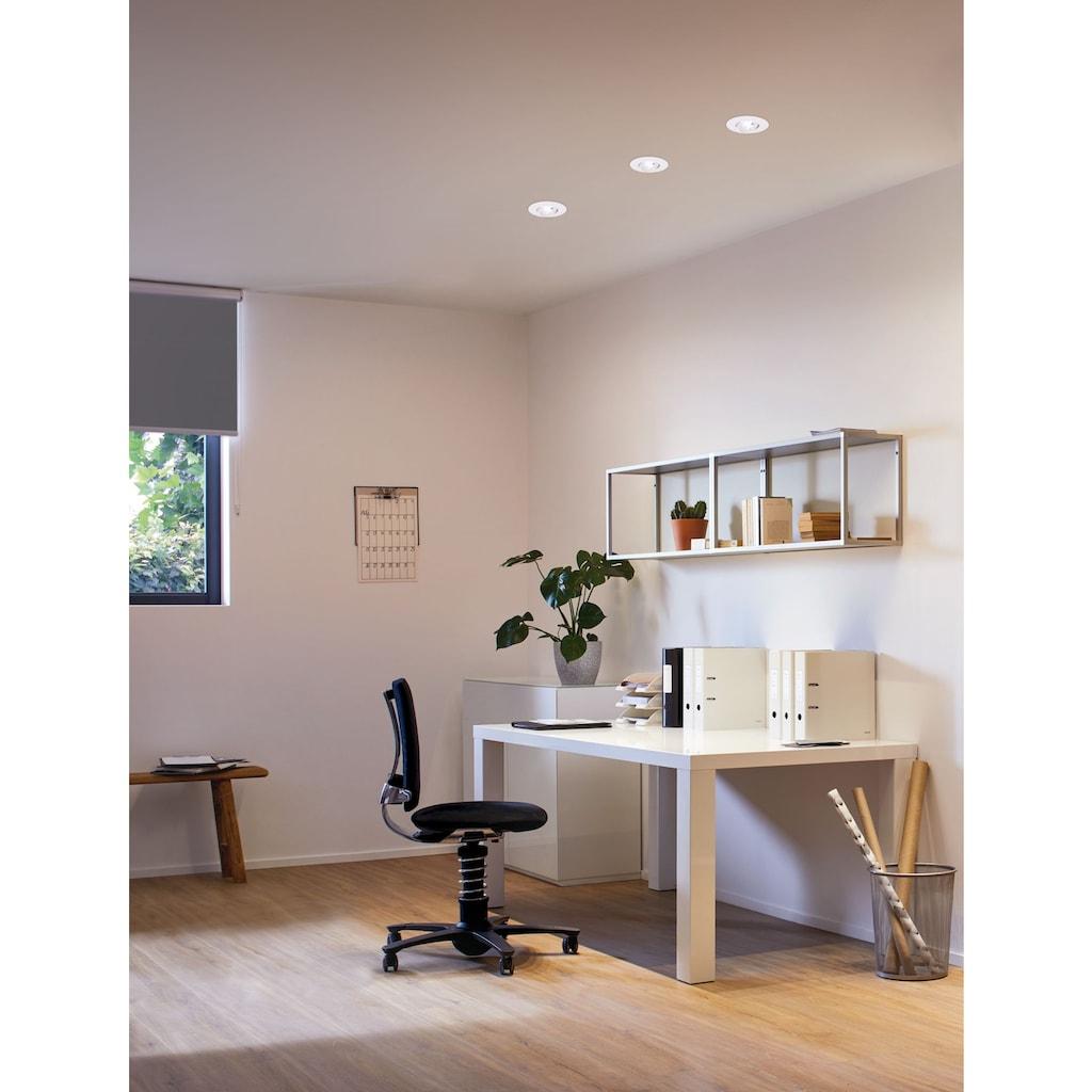 Paulmann LED Einbaustrahler »3er-Set schwenkbar Weiß 3x5W 3000K«, 3 St., Warmweiß