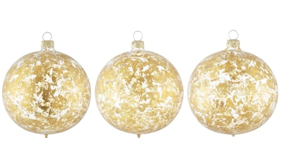 Leonique Weihnachtsbaumkugel »Opulent«, (Set, 3 St.), mundgeblasen und handdekoriert kaufen