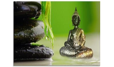 Artland Glasbild »Buddha und Steine«, Religion, (1 St.) kaufen