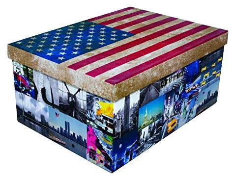 Kreher Aufbewahrungsbox USA bunt Kleideraufbewahrung Aufbewahrung Ordnung Wohnaccessoires