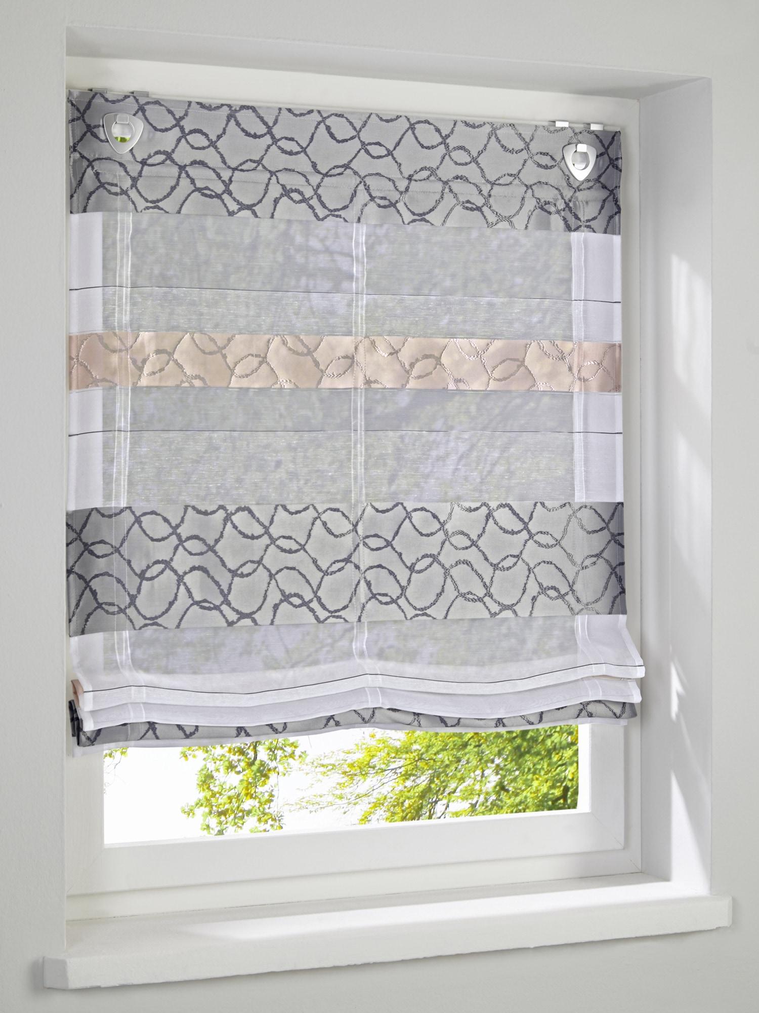 heine home Raffrollo mit dekorativem Muster