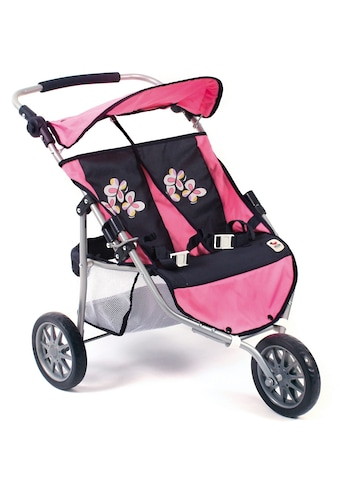 """CHIC2000 Puppen - Zwillingsbuggy """"Jogger, pink checker"""" kaufen"""