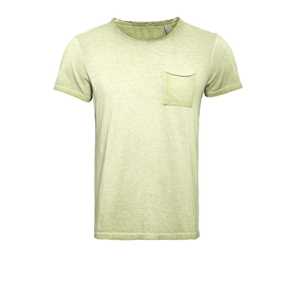 Way of Glory T-Shirt, Round neck im used Look mit Brusttasche