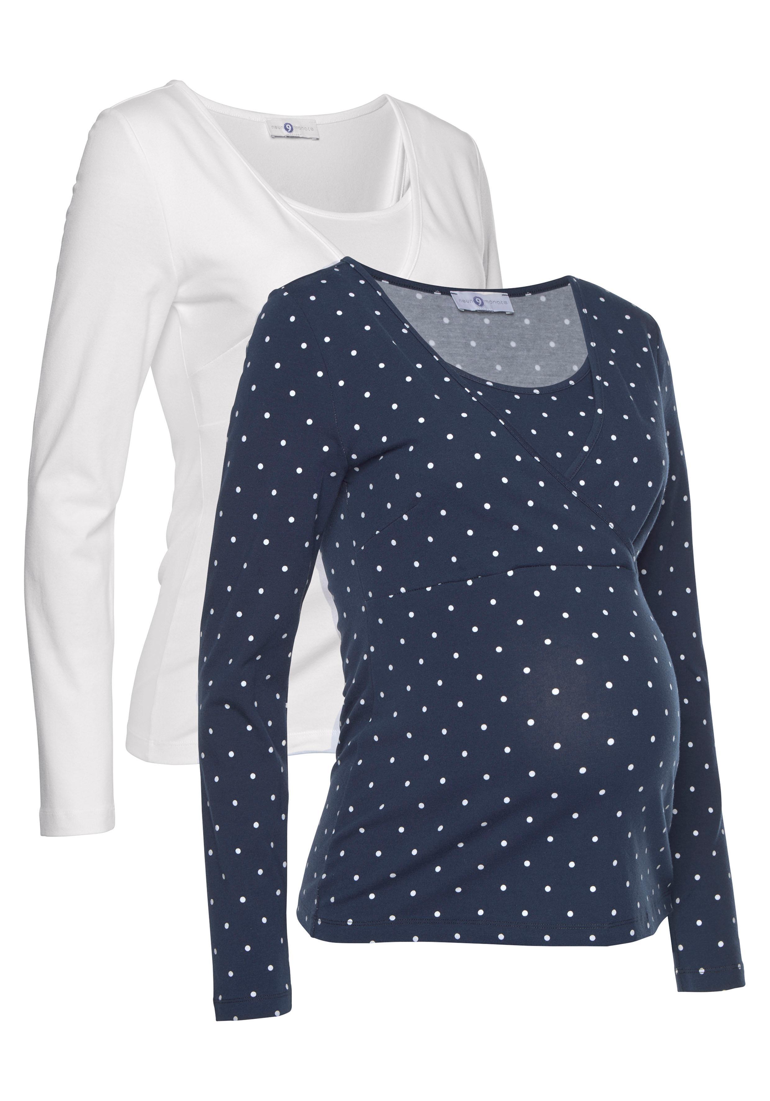Neun Monate Umstandsshirt (Packung 2 tlg) | Bekleidung > Umstandsmode > Umstandsshirts | Bunt | Neun Monate