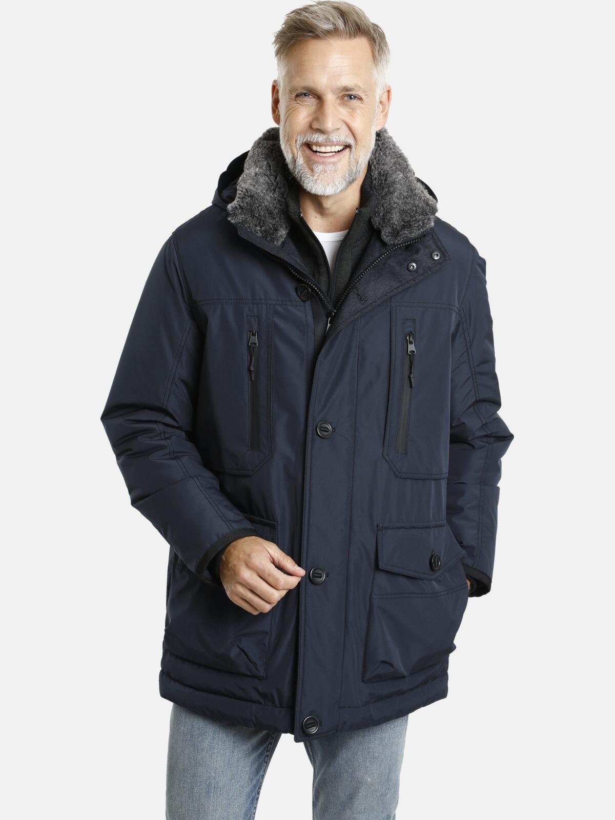 jan vanderstorm -  Winterjacke BOTULFR, mit abnehmbarer Kapuze
