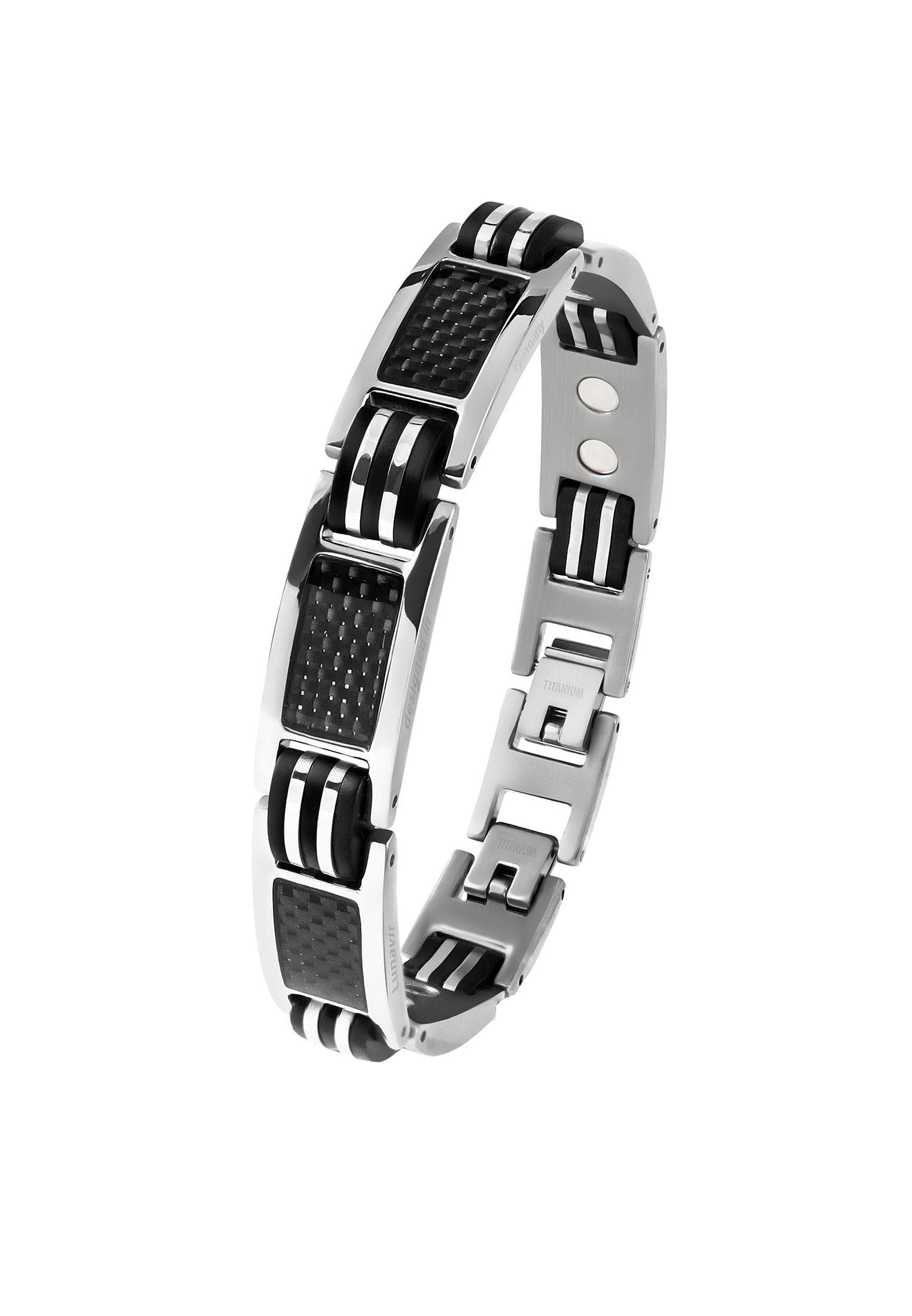 Lunavit Gliederarmband Magnet Titanarmband Ercole, Silber | Schmuck > Armbänder > Gliederarmbänder | Lunavit