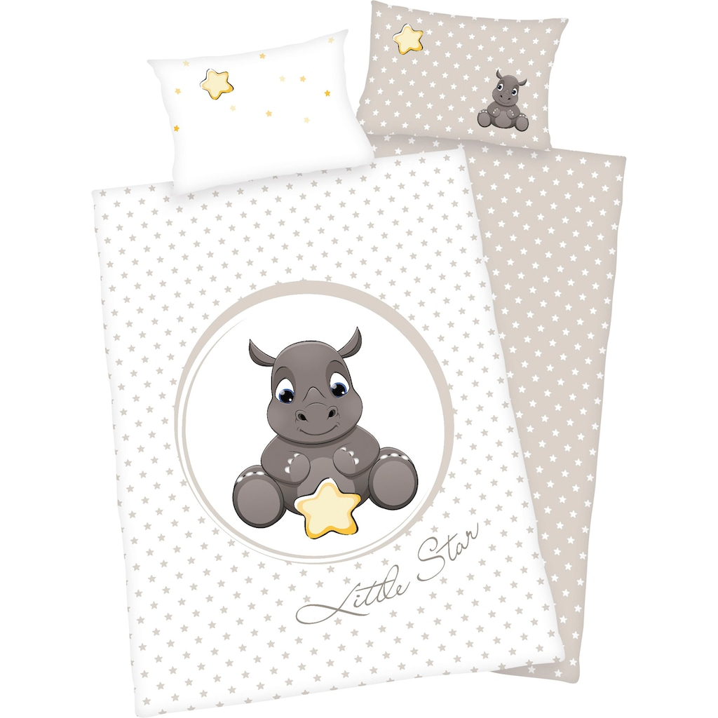 Baby Best Babybettwäsche »Süßes Nashorn«, mit niedlichem Motiv