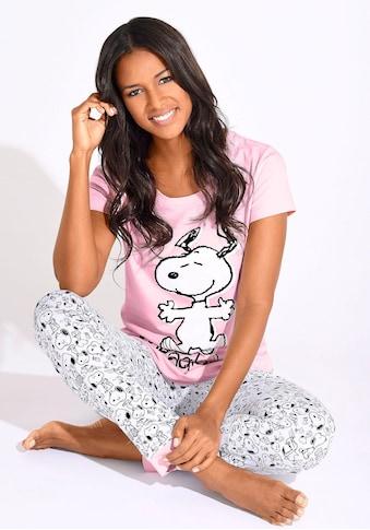Peanuts Pyjama, mit Snoopy-Print in N-Größen kaufen