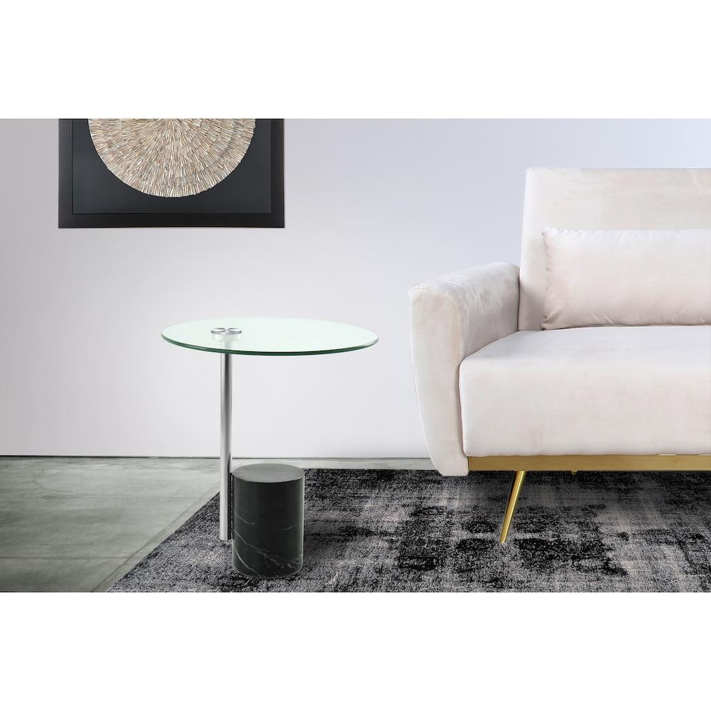 Kayoom Beistelltisch »Beistelltisch Rosario 525«, solides Metallgestell mit Marmorfuß