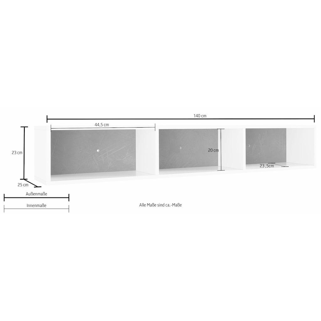 Tecnos Wandregal »Asia«, Breite 140 cm