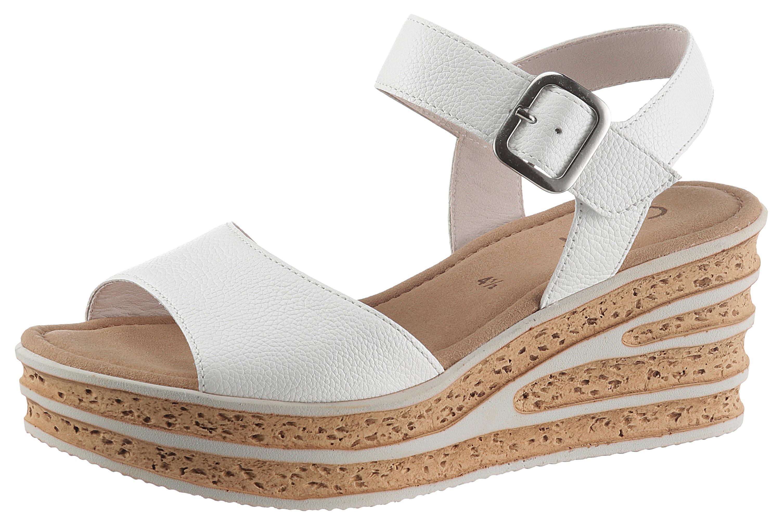 gabor -  Sandalette, mit besonderer Absatzgestaltung