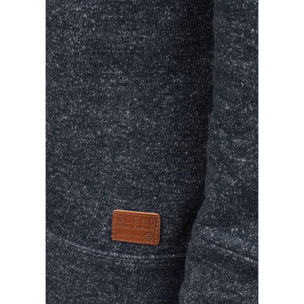 Blend Schalkragenpullover »Janosch«, Sweatshirt in Melange-Optik