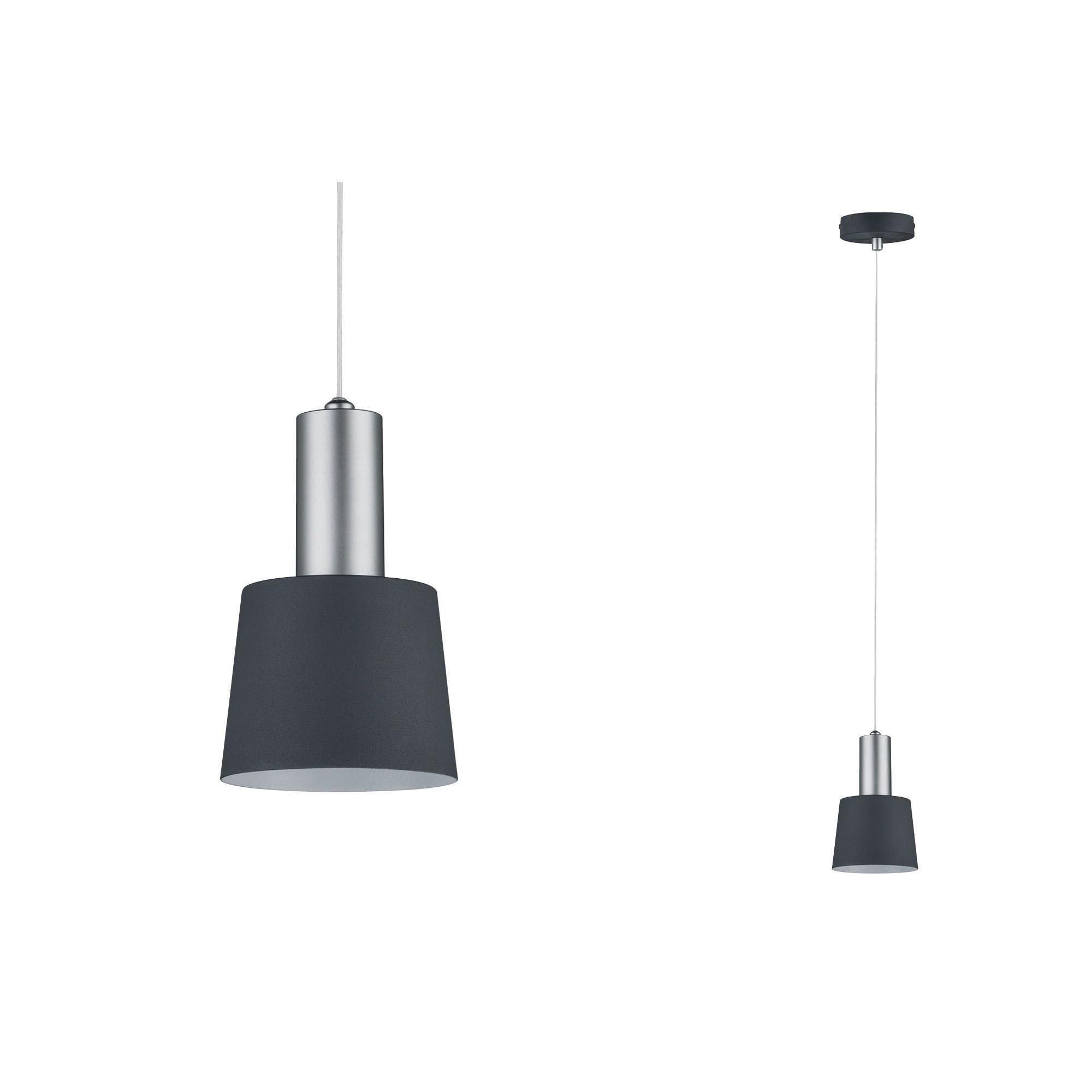 Paulmann LED Pendelleuchte Neordic Haldar Dunkelgrau/Chrom matt, E14, 1 St.