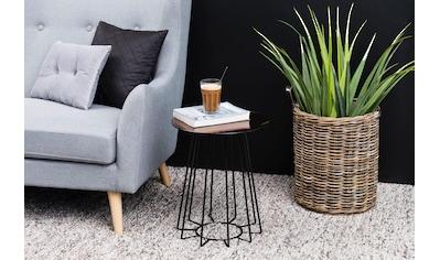 andas Beistelltisch »Carola«, mit einem schönen Metallgestell und einer bronzefarbenen Tischplatte kaufen