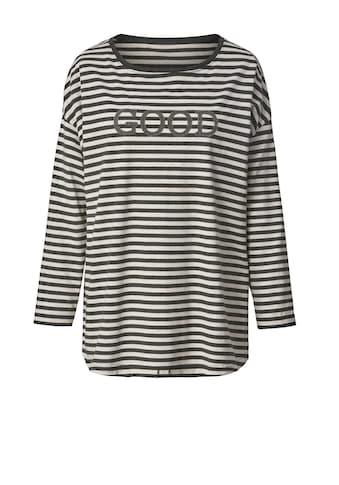 Janet und Joyce by Happy Size Shirt gestreift mit Frontprint kaufen