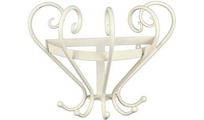 Ambiente Haus Garderobenhaken »Garderobe mit Keramik - antikweiss 34cm« kaufen