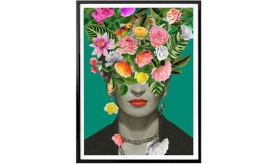 Wall-Art Poster »Frida Kahlo Floral«, Schriftzug, (1 St.) kaufen