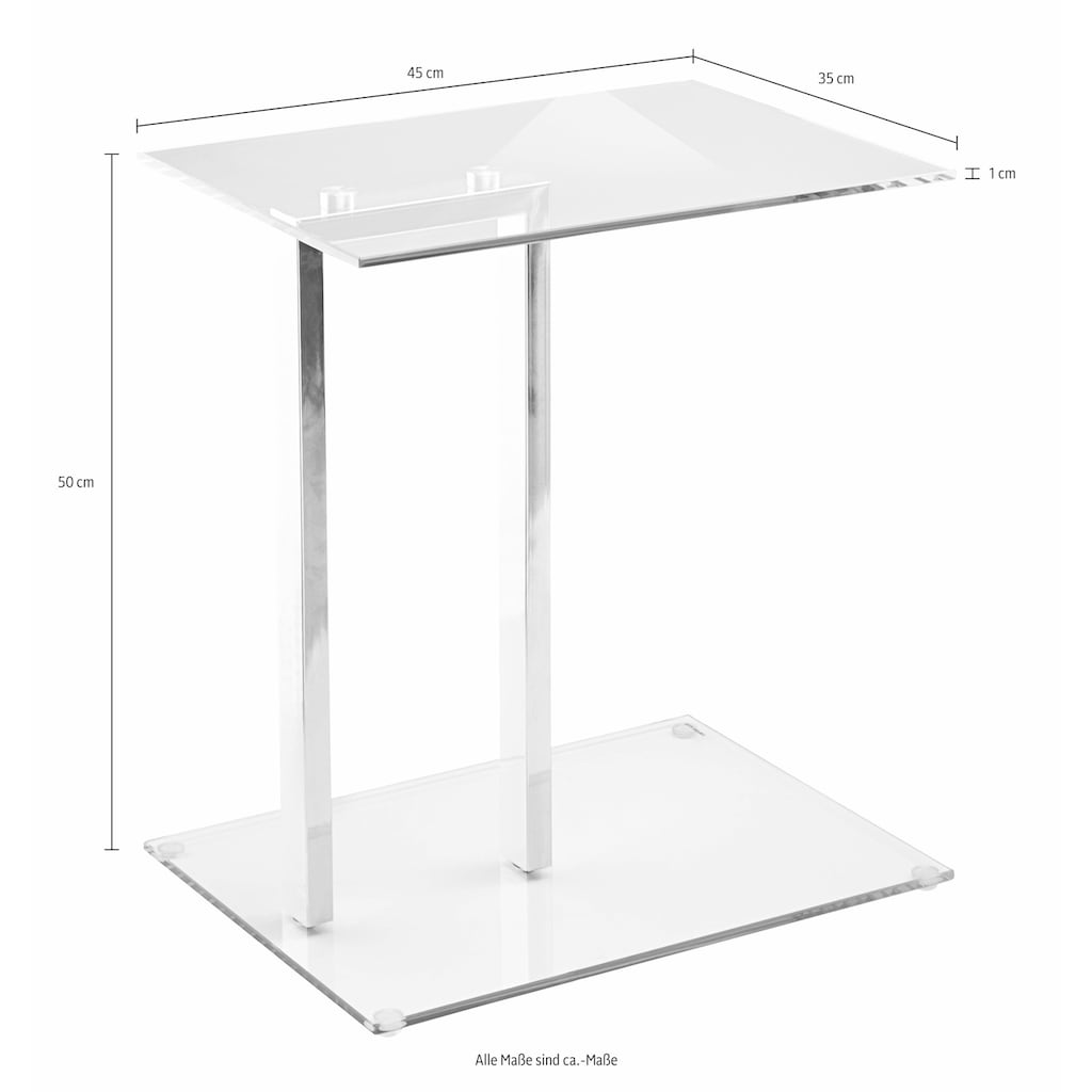 HAKU Beistelltisch, in moderner Glasoptik