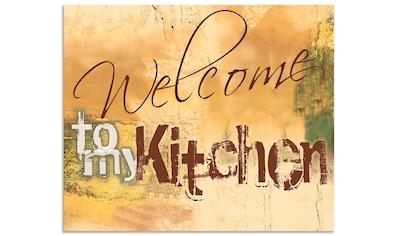 """Artland Küchenrückwand """"Willkommen in meiner Küche"""", (1 - tlg.) kaufen"""