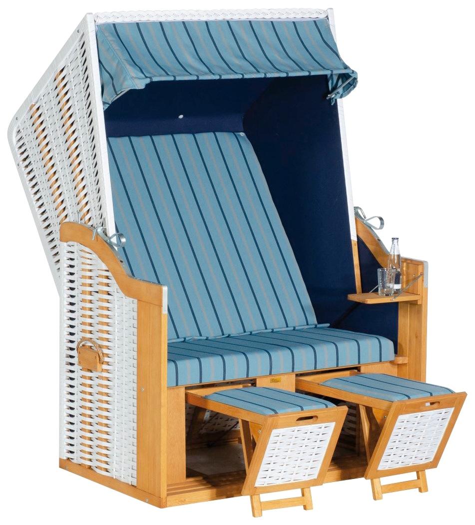 SunnySmart Strandkorb Rustikal 30 Z weiß Strandkörbe Garten, Terrasse Balkon